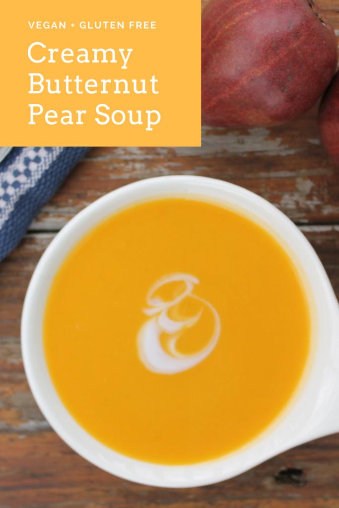 Creamy Butternut Pear Soup
