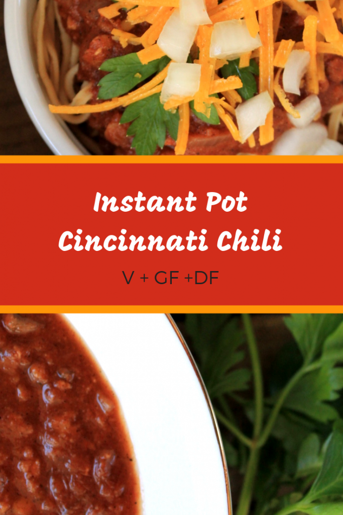 Instant Pot Vegan Cincinnati Chili