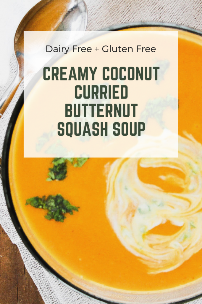 Creamy Coconut Curried Butternut Squash Soup