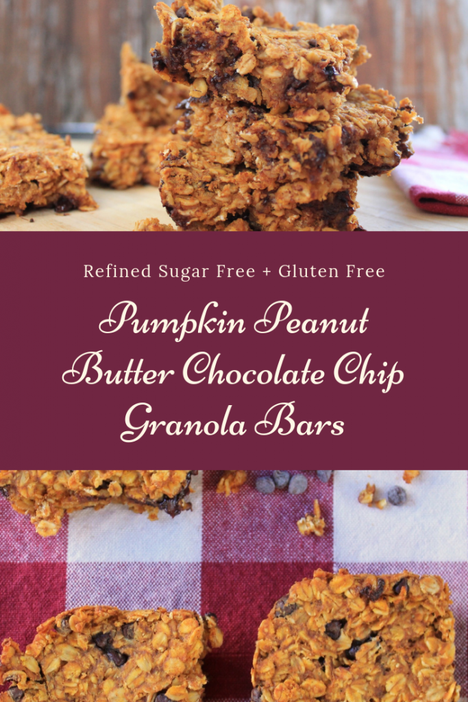 Peanut Butter Pumpkin Chocolate Chip Granola Bars (Vegan + Gluten Free)