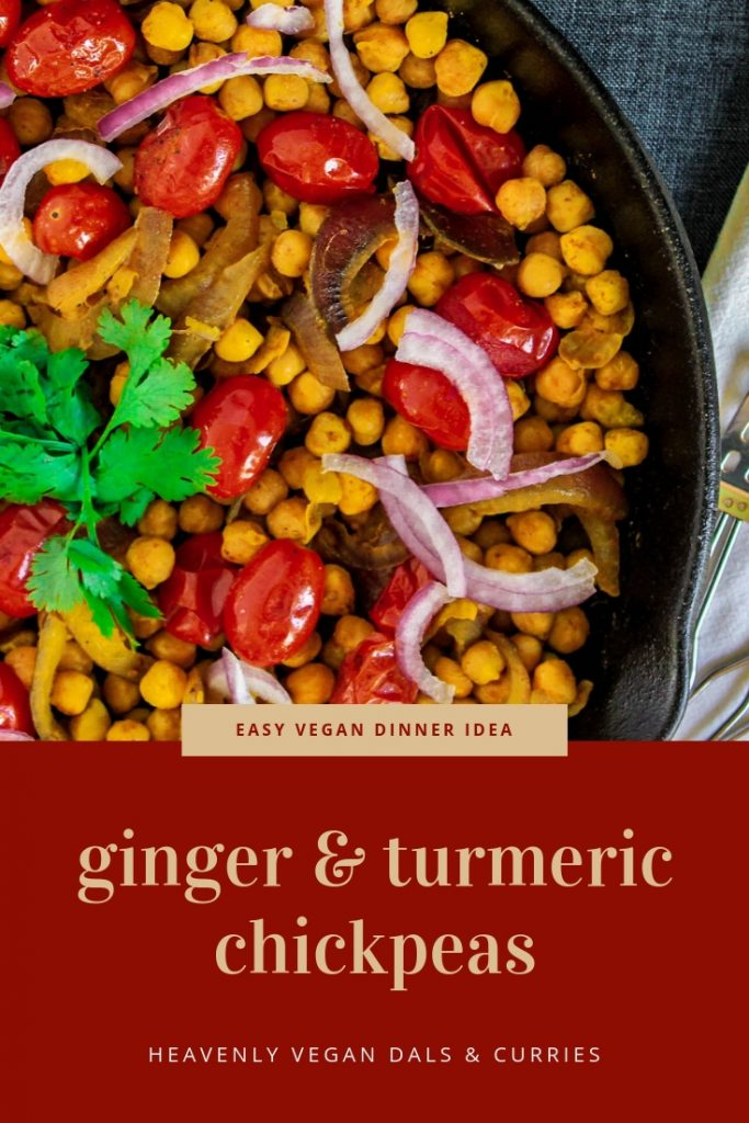 Ginger Turmeric Chickpeas | Heavenly Vegan Dals & Curries Cookbook Review
