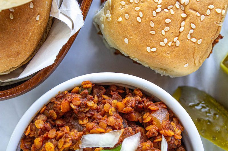 Easy Red Lentil Sloppy Joe Recipe