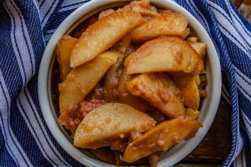 cinnamon maple stewed apples-
